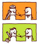 People handshakes vector illustration