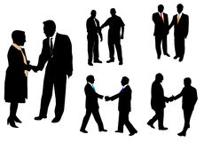 People and handshaking Stock Images