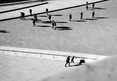 People hanging around in Opera house in Oslo Royalty Free Stock Image