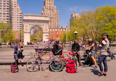 People, Washington Square Park, New York Royalty Free Stock Photo