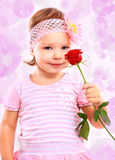 People, happiness concept. Happy little girl Stock Photo
