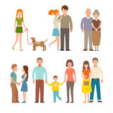 People happy couple cartoon and relationship lifestyle couples vector. Stock Photos