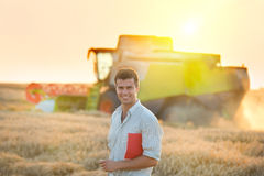People at harvest Royalty Free Stock Images