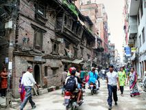People in haste - Kathmandu, The Streets of Thamel Stock Images