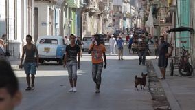 People of Havana stock footage
