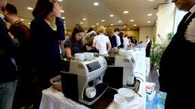 People have coffee break stock video footage
