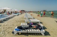People Have Fun At The Black Sea stock photo