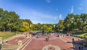 People have rest in Central Park in New York Stock Photo