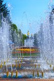 People have a rest in park with fountains Stock Images