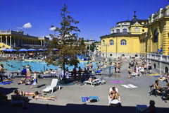 People have a thermal bath Stock Images
