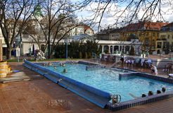 People Have A Thermal Bath In The Gellert Spa In Budapest Editorial ...