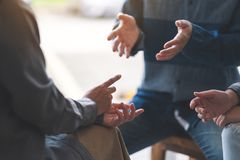 People having conversation together royalty free stock photo