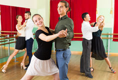 People having dancing class Royalty Free Stock Image