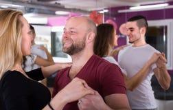 People having dancing class Stock Image