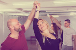 People having dancing class Stock Images