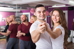 People having dancing class Royalty Free Stock Photography