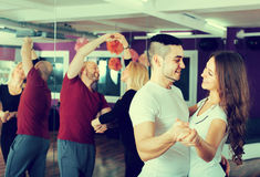 People having dancing class Royalty Free Stock Photos