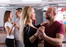 People having dancing class Stock Image