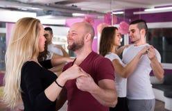 People having dancing class Royalty Free Stock Image