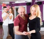 People having dancing class Stock Photography