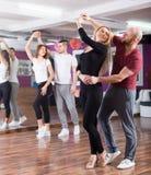 People having dancing class Stock Photo