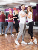 People having dancing class Royalty Free Stock Photo