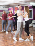 People having dancing class Stock Photo