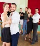 People having dancing class in studio Stock Photo