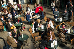 People having dinner. In Covent garden, London, United Kingdom stock photography