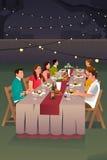 People Having Dinner Outdoor Stock Photo