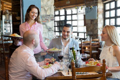 People having dinner rural restaurant Stock Photography