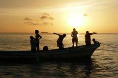 People Having fun on a beach Royalty Free Stock Image
