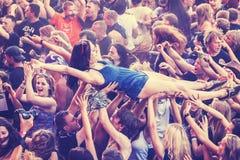 People having fun during concert. Royalty Free Stock Image