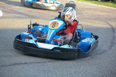 People having fun on a go cart. Summer season Royalty Free Stock Images