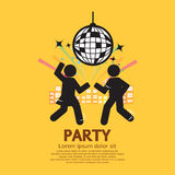 People Having Fun At Party. Vector Illustration royalty free illustration