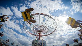 People having fun in a Romanian country fair Royalty Free Stock Photography