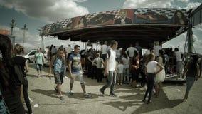 People having fun in a Romanian country fair Stock Photos