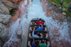 People having fun Splash Mountain water attraction in Magic Kingdom at Walt Disney World 19