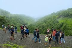 People having fun at Tamhini Ghat, Pune Royalty Free Stock Photography