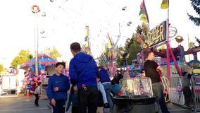 People having fun at the West Coast Amusements Carnival Stock Images