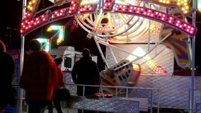 People having fun at the West Coast Amusements Carnival stock video