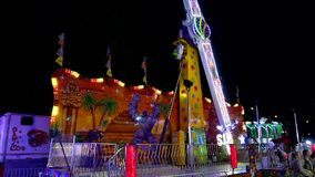 People having fun at the West Coast Amusements Carnival stock video footage