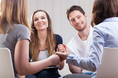 People having good time on therapy Stock Images
