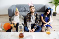 Hangover after a party Royalty Free Stock Photo