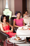 People having meal served in restaurant Royalty Free Stock Photo