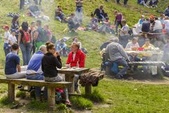 People having picnic Stock Image