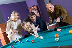 People having pool game Stock Photography