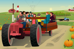 People on a Hayride Stock Photos