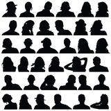 People head black silhouette  Royalty Free Stock Image
