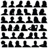 People head black silhouette  Royalty Free Stock Image